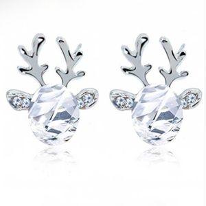 Jewelry - NEW Crystal Reindeer Christmas Stud Earrings
